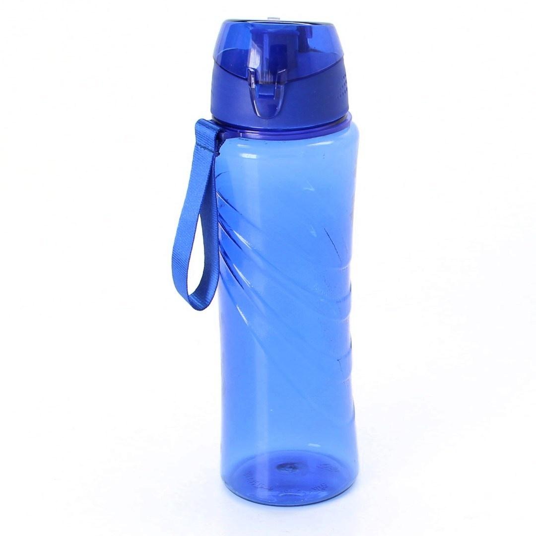 Plastová láhev modrá s poutkem
