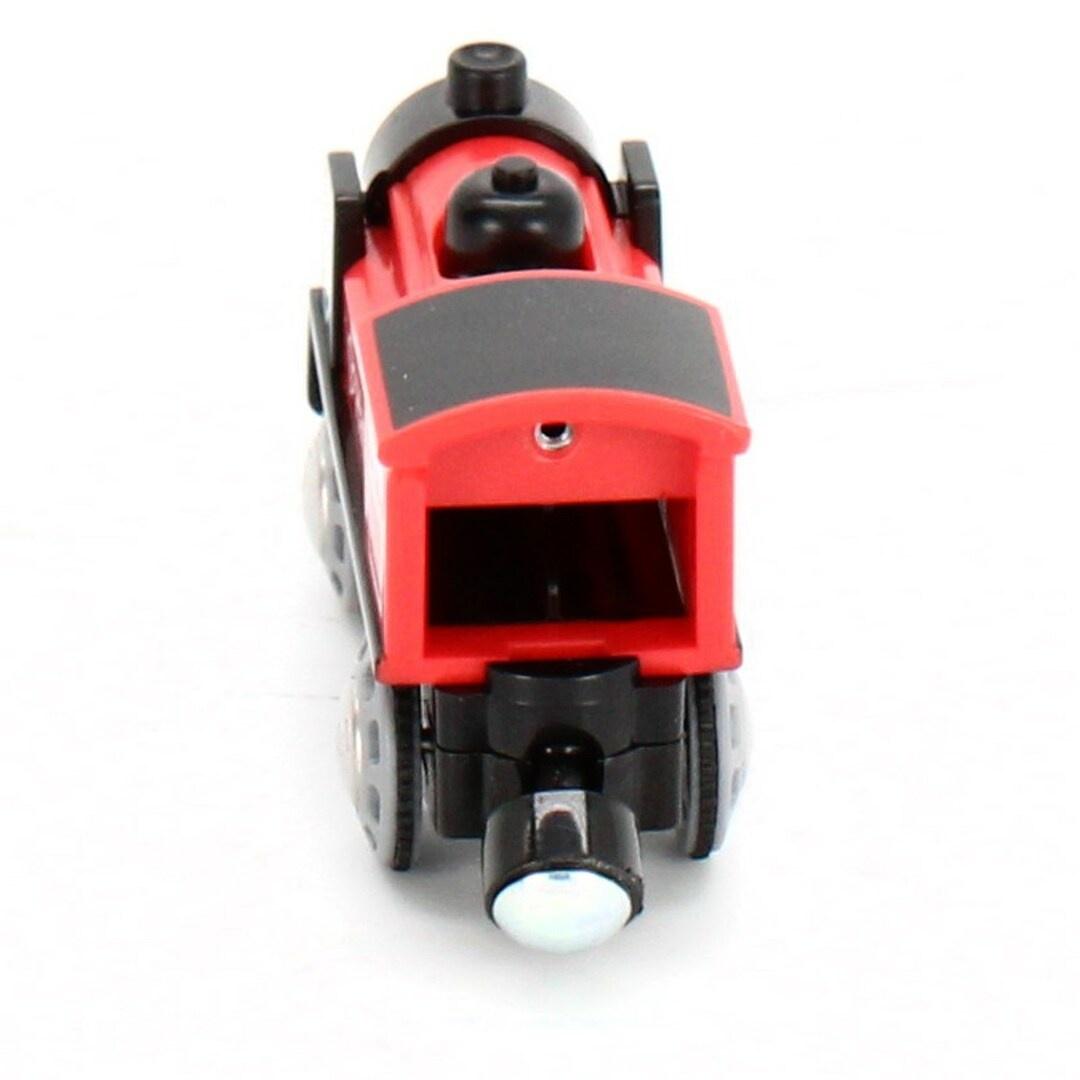 Lokomotiva Hape na baterie černo červená