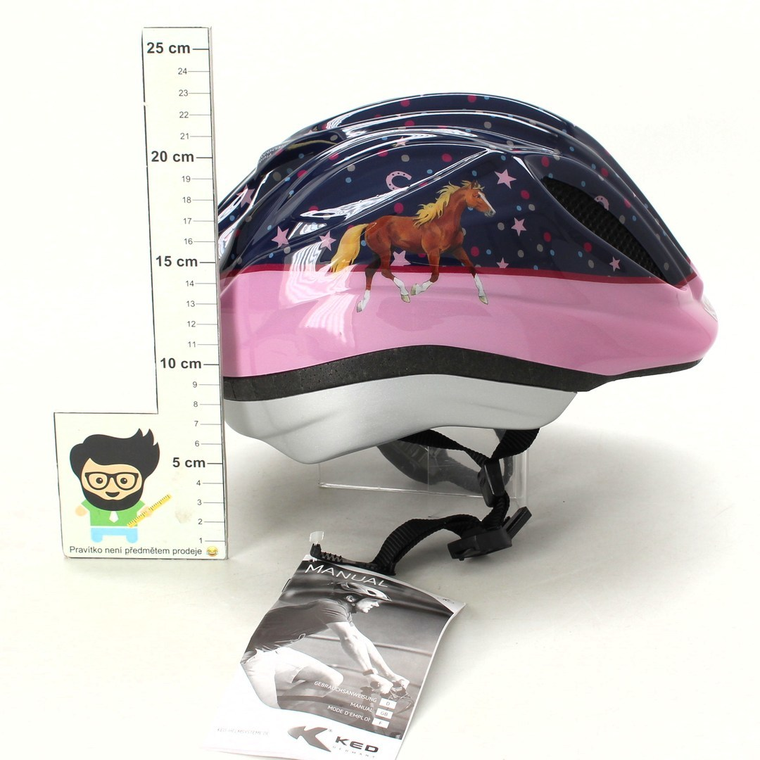Dívčí cyklistická helma KED