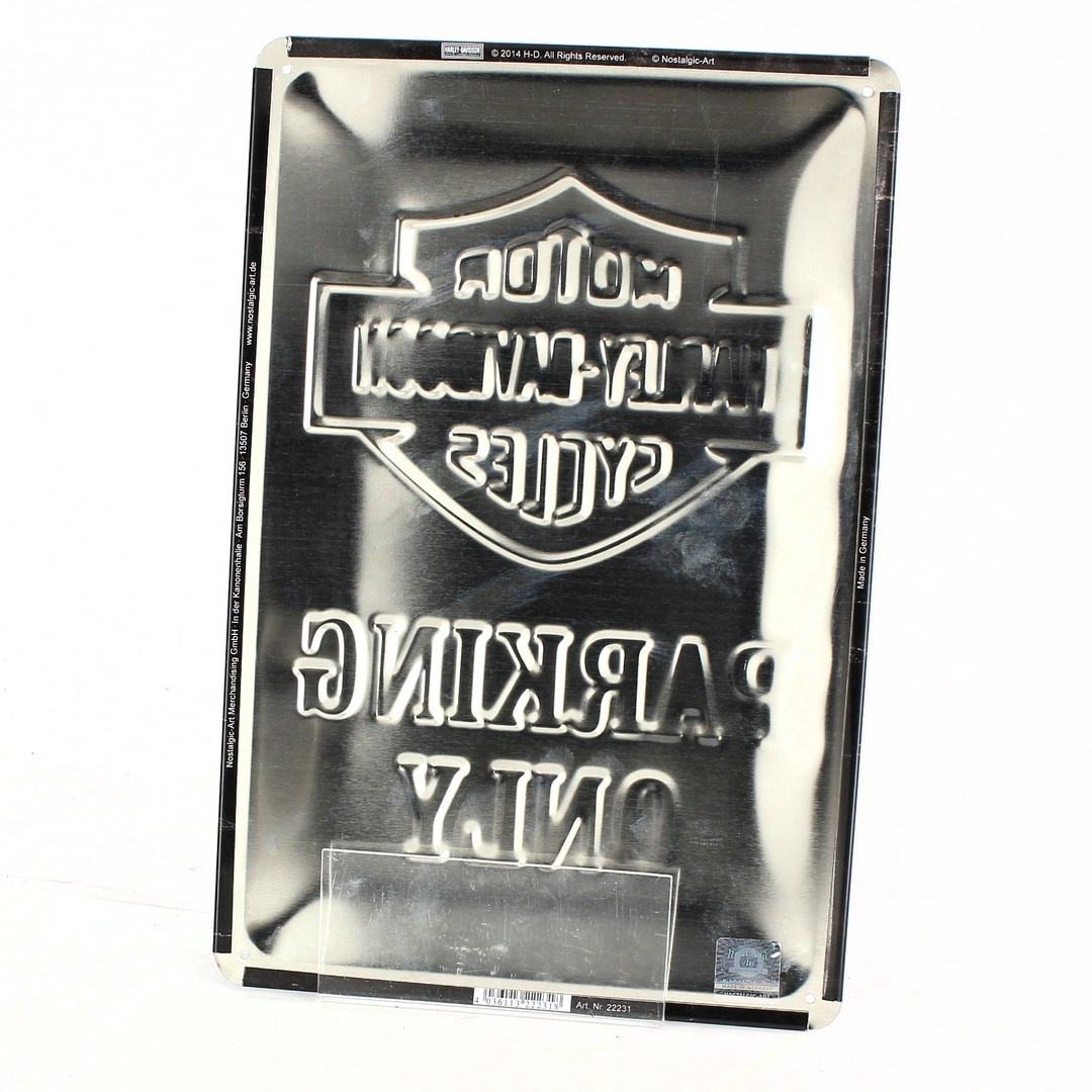 Cedule Harley Davidson černá