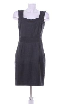 Dámské elegantní šaty Orsay šedé na ramínka
