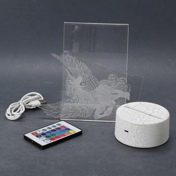 3D Lampa LED noční světlo QiLiTd