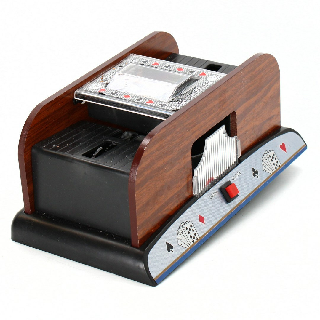 Míchačka na karty RelaxDays s motivem dřeva