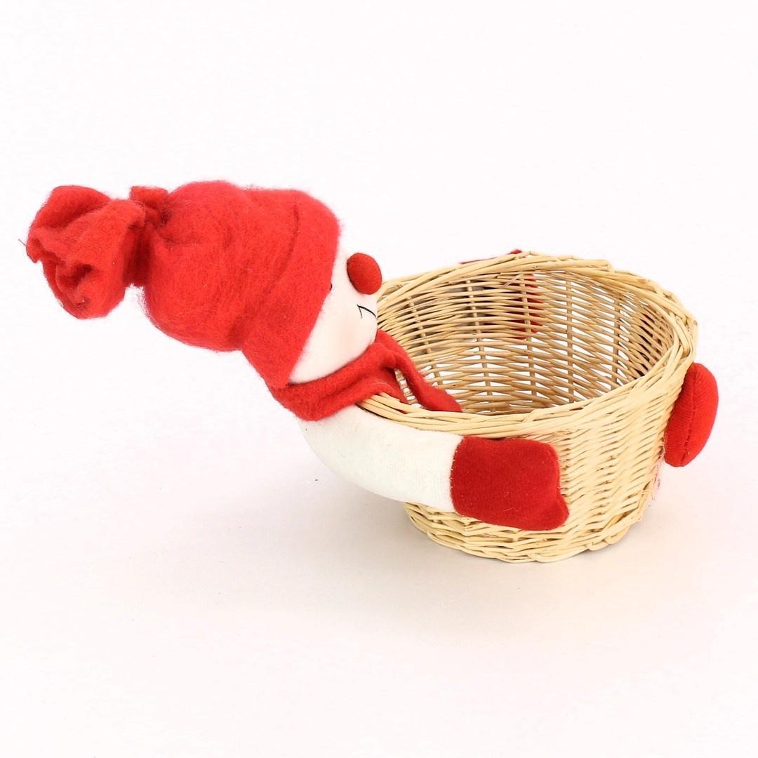 Plyšová figurka s košíkem