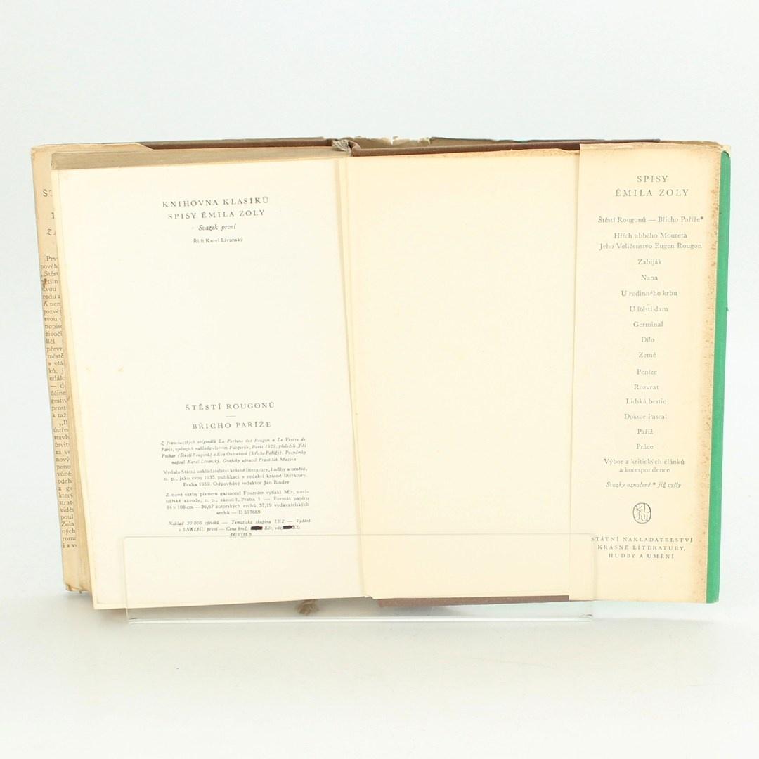 Historický román Spisy Emila Zoly