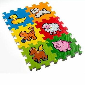 Pěnové puzzle Teddies Moje první zvířátka