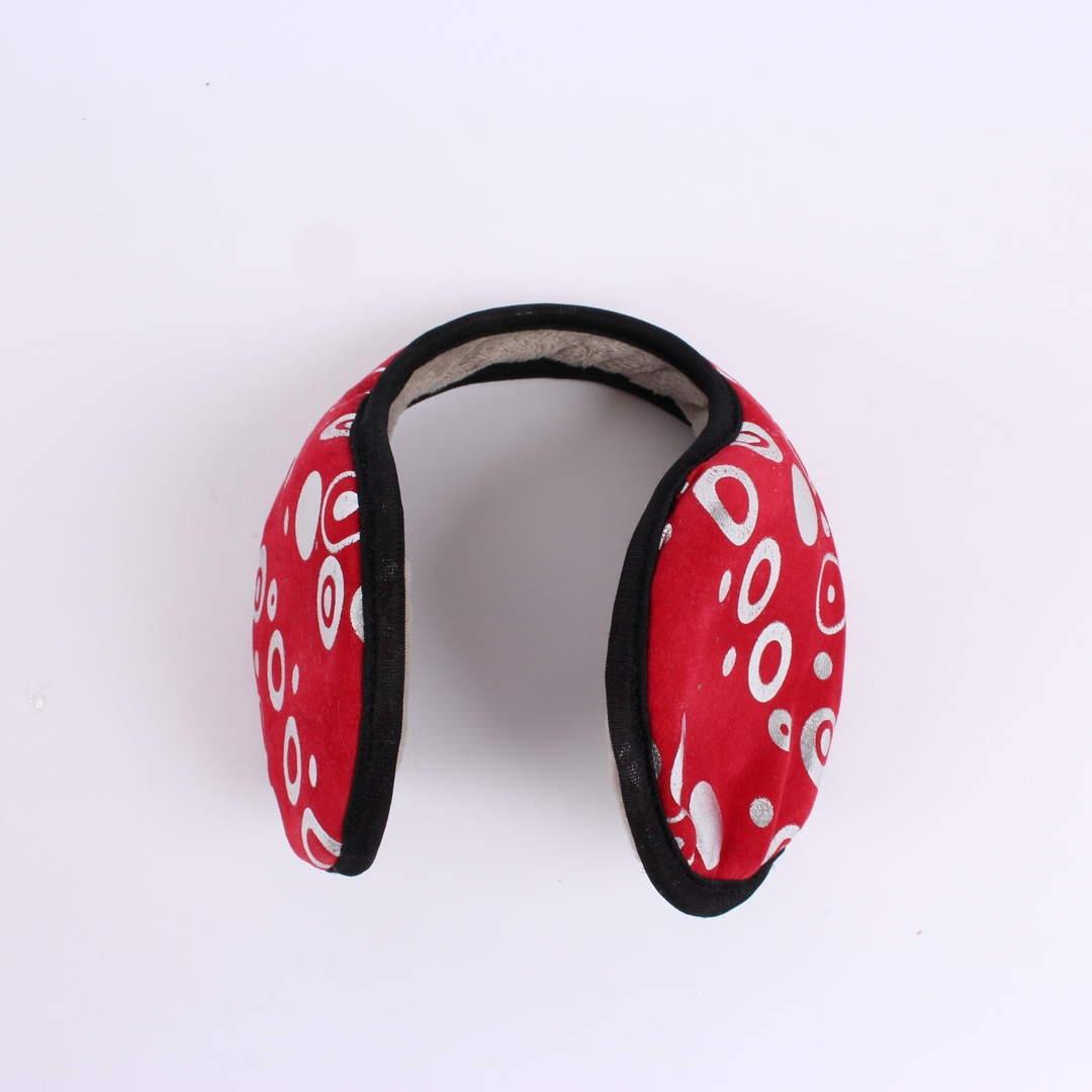 Klapky na uši červené