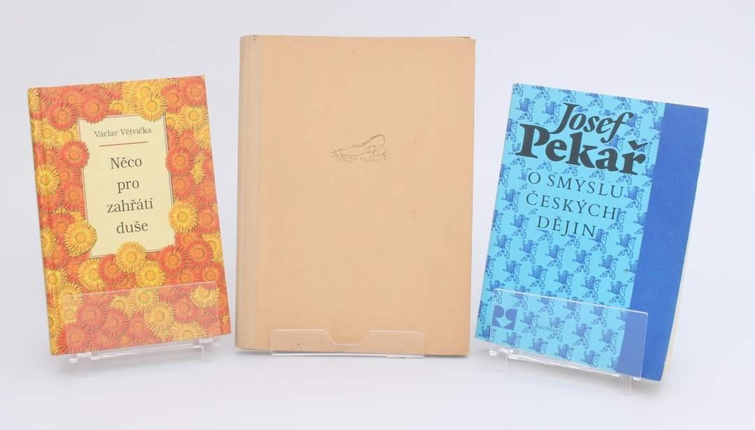 3 knihy - Větvička, Pekař, Dewetter