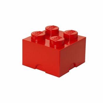 Úložný box Lego kostka červený