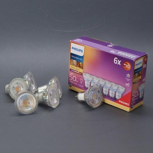 LED žárovky Philips GU10 3,8W sada 6 ks