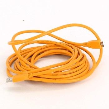Micro USB kabel 120 cm oranžový