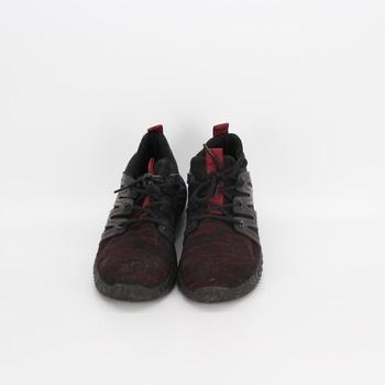 Dámské volnočasové boty červenočerné