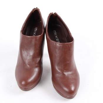 9e714583875 Dámské kotníčkové boty na podpatku Mixer