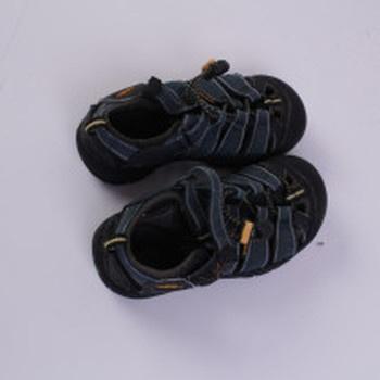 Chlapecké letní boty Keen černo-oranžové