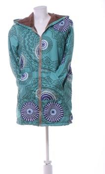 Dámská podzimní bunda s kapucí zelená M