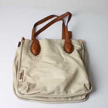 Dámská koženková kabelka Verde béžová