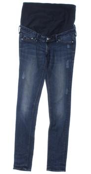 Těhotenské kalhoty H&M džíny modré