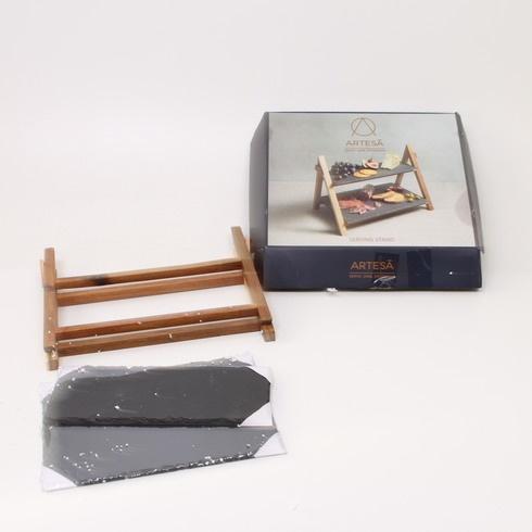 Servírovací stojan Artesa dřevěný