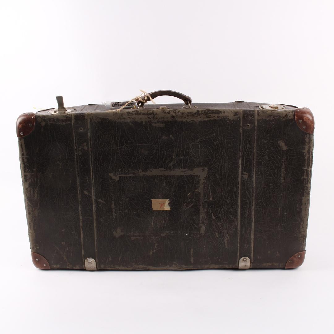 Cestovní kufr tmavě hnědý 74 x 44  x 19 cm