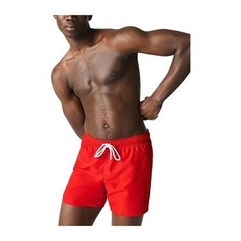 Pánské červené šortky Lacoste MH6270 s vakem