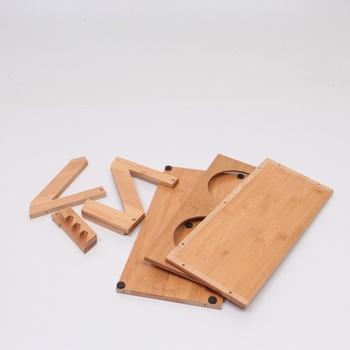 Misky s dřevěným stojanem Petacc