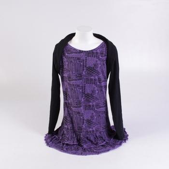 Dětské šaty NKD fialové dlouhý rukáv