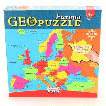 Geopuzzle Amigo Europa 58 dílků