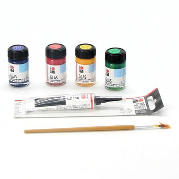 Sada na malování  na sklo Marabu MR130600087
