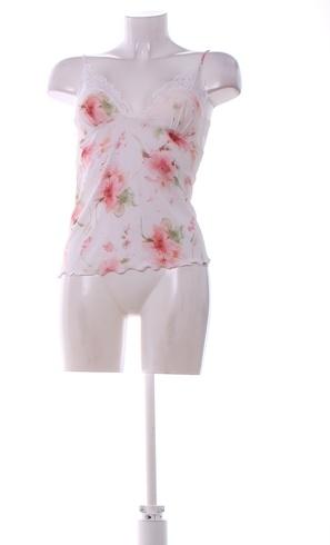 Dámská košilka Jane bílá s květinami