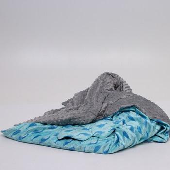Přikrývka na spaní Sofran modro šedá