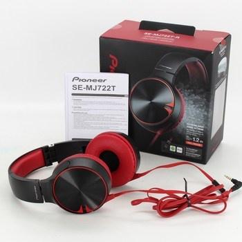 Sluchátka Pioneer Se-MJ722T černo červená