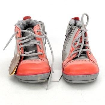 Dětské boty kotníkové s tkaničkami na zip