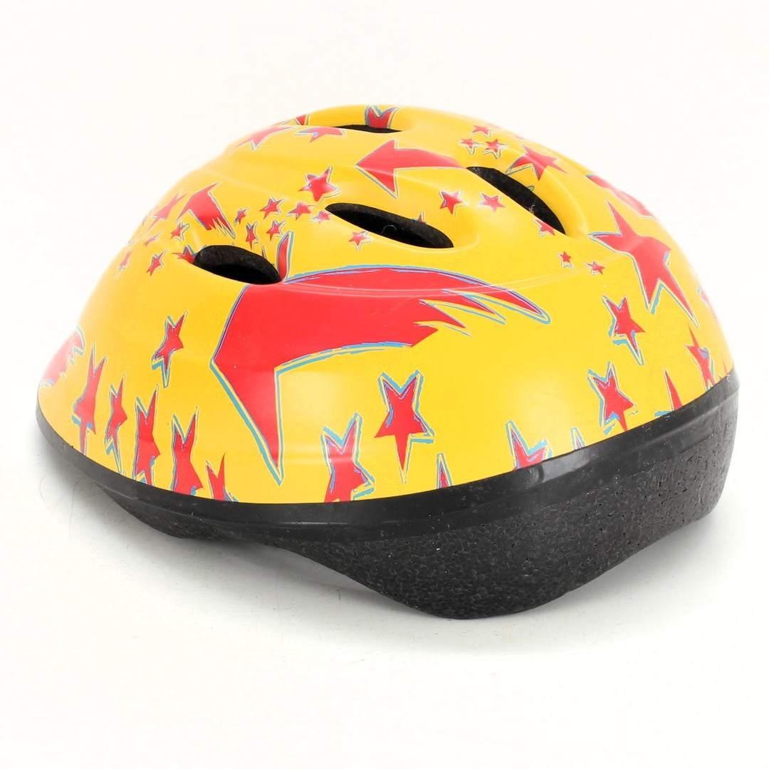 Dětská helma Olpran žlutá s hvězdami