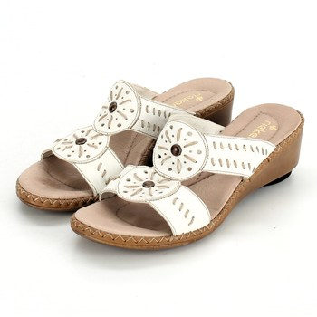 a093ff98a478 Dámské pantofle Rieker bílé