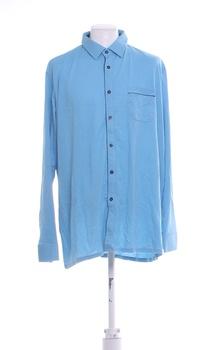Pánská košile modrá dlouhý rukáv