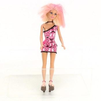 Panenka Barbie s růžovými mini šaty
