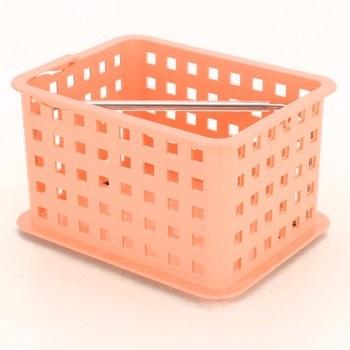 Plastový košík lososové barvy