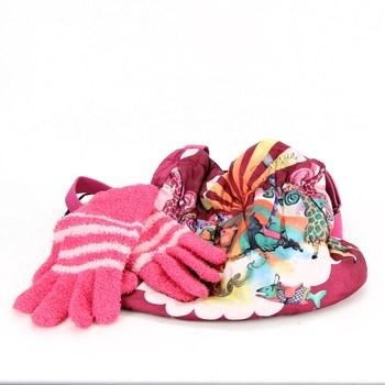 Dívčí barevná taška Desigual + rukavice