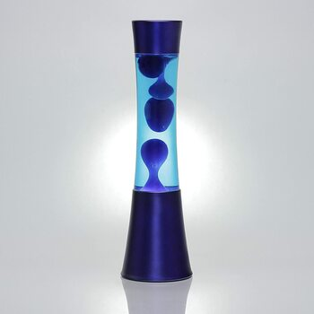 Lávová lampa Licht-Erlebnisse Ringo modrá