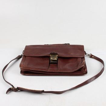 Dámská kožená retro kabelka na rameno hnědá