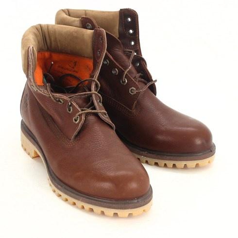 Pánské boty Timberland tmavě hnědé - bazar  6f5f6e35f0b