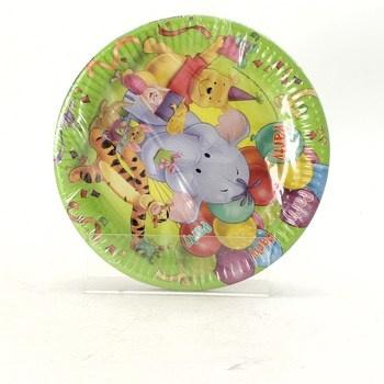 Papírové talíře Disney s medvídkem Pú