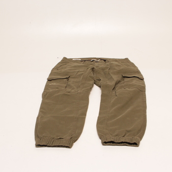 Pánské kalhoty Jack and Jones odstín zelené