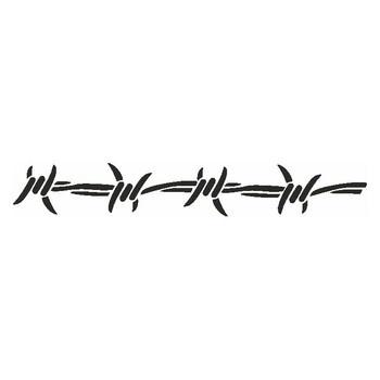 Samolepící šablona Eulenspiegel ostnatý drát