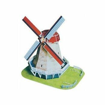 3D puzzle CubicFun Větrný mlýn