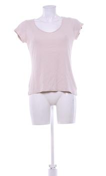 Dámské tričko Camaieu béžové