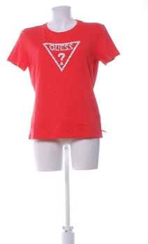 Dámské tričko Guess červené s perlami