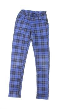 Dětské plátěné kalhoty H&M modré