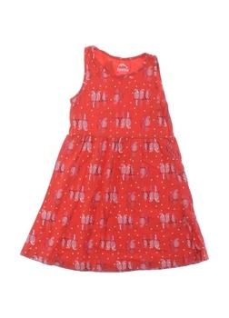 Dětské šaty Lupilu červené se vzorem