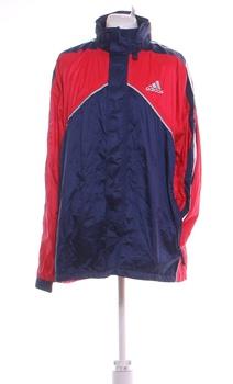 Pánská šusťáková bunda Adidas modročervená